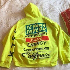 Other - K.T.S.E. Teyana Taylor fluorescent green hoodie